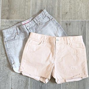 Childrens Place Girls Cut Off Jean Short Bundle